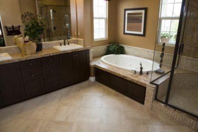 Cream Marble Home Design Ideas in Florida