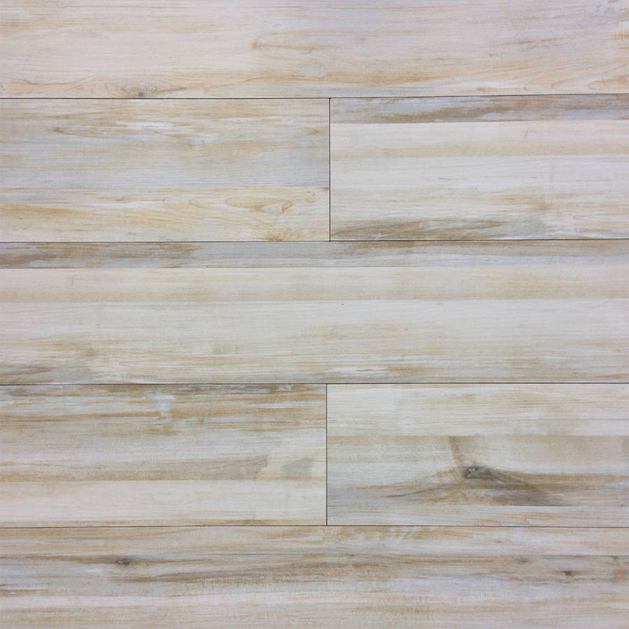 White Wood Tile : Alberta Cream Wood Look Plank Porcelain Tile  Nalboor