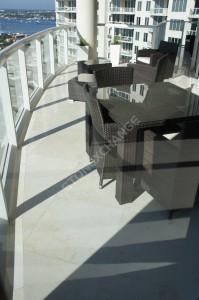 Create a Stylish Terrace with Vanilla Oro Marble Tiles