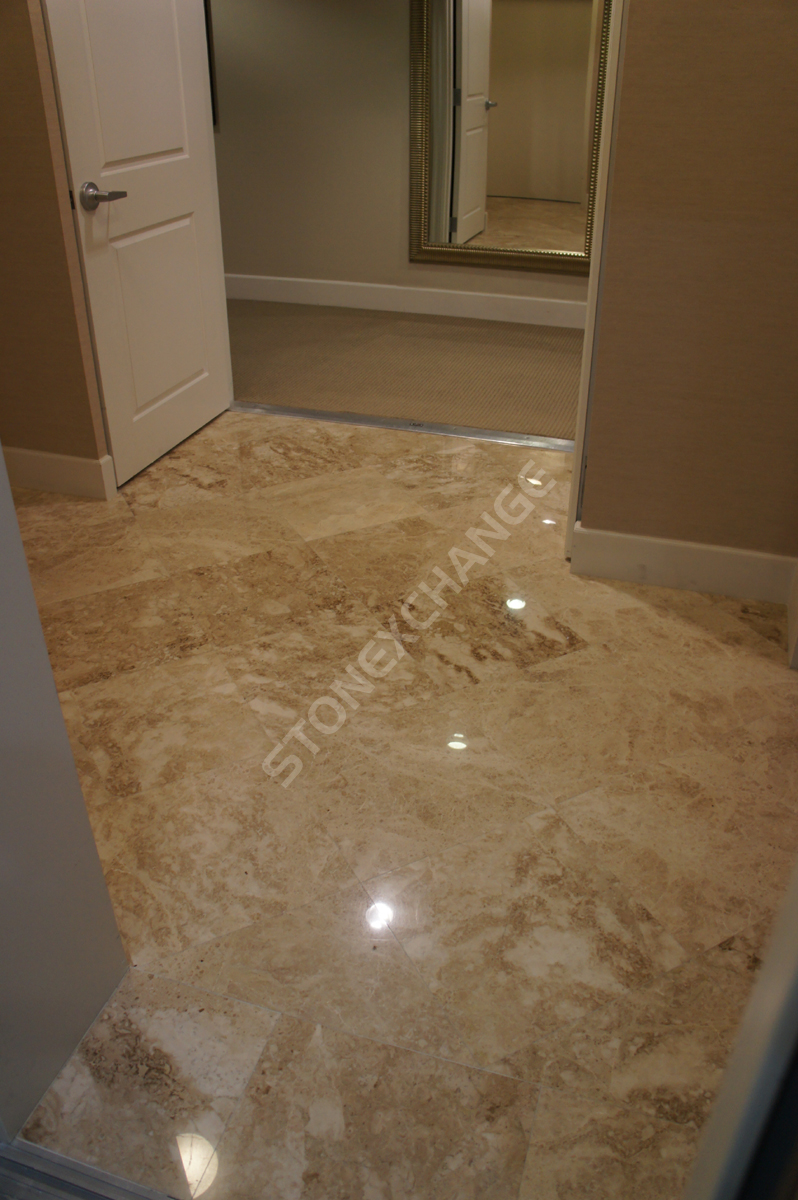 Stone Tile Bathroom Floor