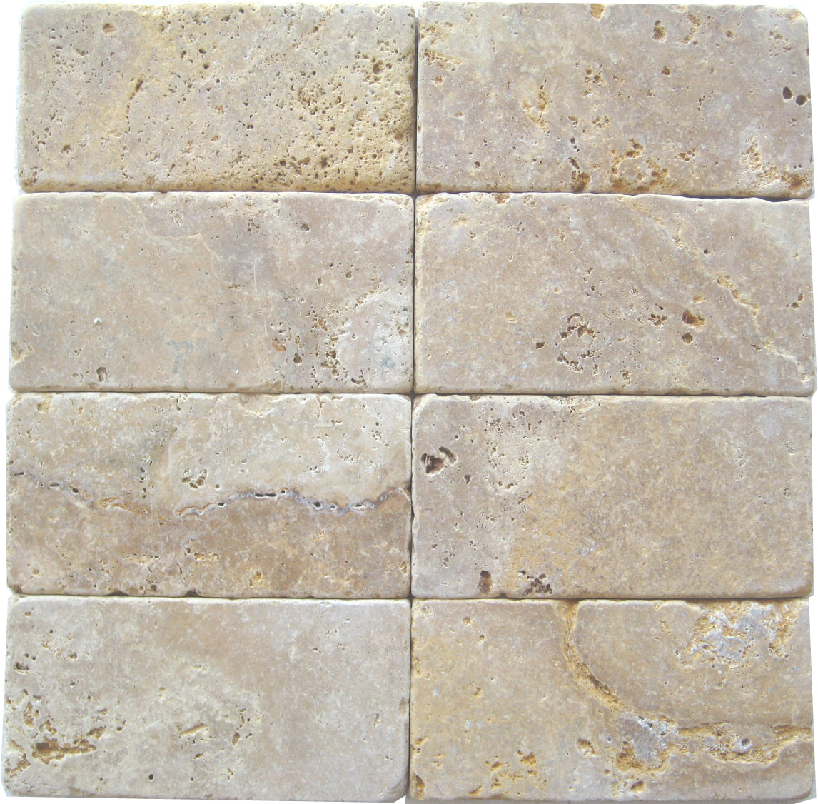 Golden Sienna Travertine Tumbled Tiles E36 3000 In South Florida