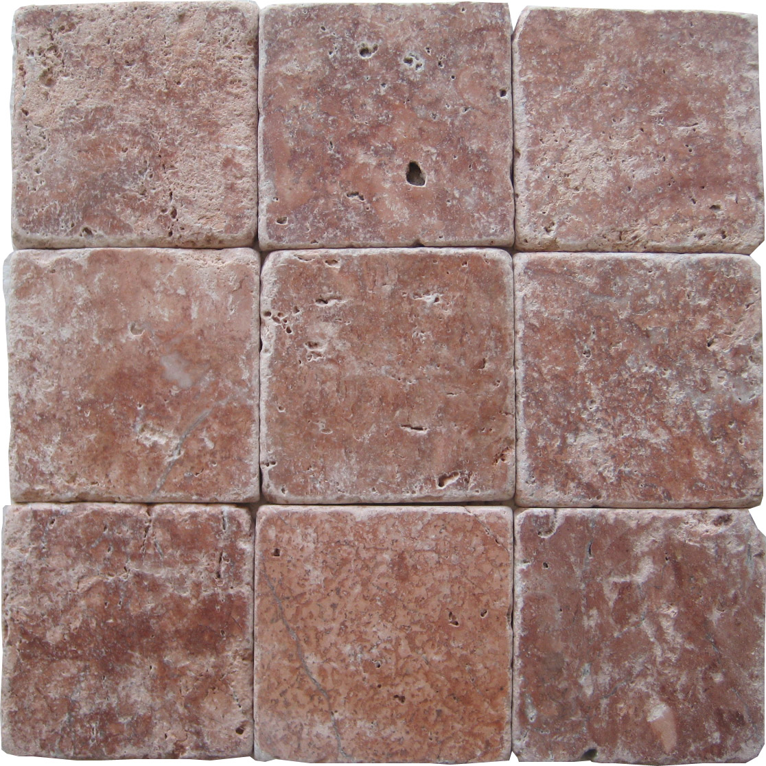 Rose Travertine Tumbled Tiles E4 4100 In South Florida
