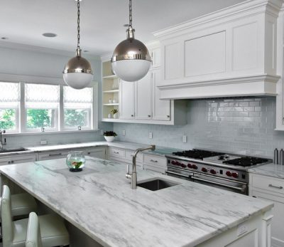 If You Were To Walk Into A Kitchen With All White Marble Countertops Re Guaranteed Oooh And Ahhh
